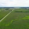 Aerial video farm fields green