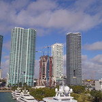 Aerial 4k video of Downtown Miami