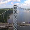 Aerial footage of the GW Bridge NY