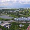 Aerial Miami Beach golf course homes