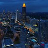 Aerial drone video Bank of America Financial Center Atlanta GA