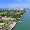 Aerial video Fisher Island golf resort