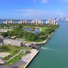 Aerial video Fisher Island golf resort