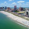 Atlantic City casinos gambling aerial drone tour 4k