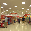 Walking through Target discount retailer