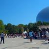Tourists at Cloud Gate motion ground shot 4k