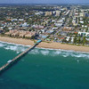 Aerial video of the Anglin's Fishing Pier Fort Lauderdale FL 4k