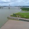 Aerial video of the Louisville Riverwalk pedestrian path