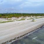 Aerial video Crandon Park Miami FL