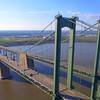 Aerial Orbiting around the Delaware Memorial Bridge