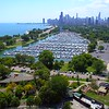 Aerial video Diversey Yacht Club Chicago