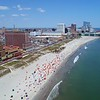 Summer vacation in Atlantic City New Jersey aerial video