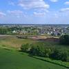 Aerial video luxury mansions Bettendorf Iowa 4k 60p