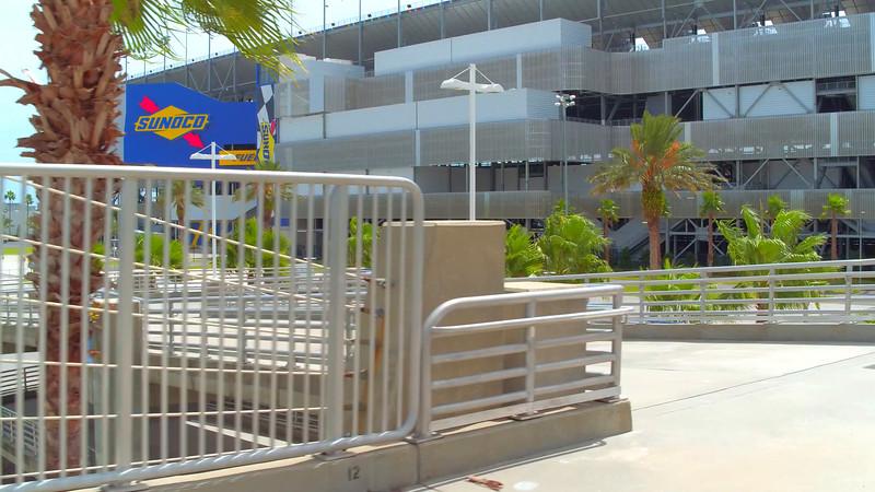 International Drive pedestrian overpass and raceway