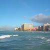 Panning footage Waikiki Beach