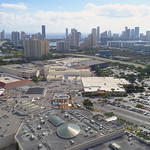 Aerial video of Aventura Florida and William Lehman Causeway