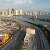 Aerial video of the Port Miami Tunnel on the Macarthur Causeway