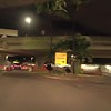 Honolulu International Airport rental car return night scene