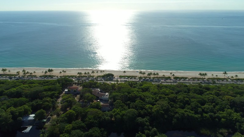 Aerial video Fort Lauderdale Beach Boulevard shot with drone