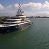 Aerial video motor yacht Luna at Miami