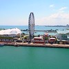Aerial video Chicago Navy Pier Downtown 4k 60p