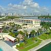Aerial drone video US Coast Guard Miami Beach 4k 60p