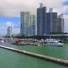Miami Beach Marina aerial stock footage