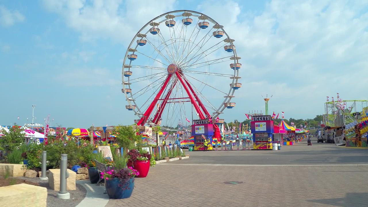 Amusement park at the Iowa State Fair