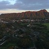 Aerial video of Diamond Head volcanic tuff cone