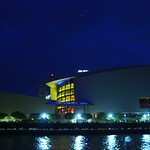 Stock ground footage American Airlines Arena Miami at night