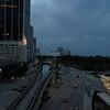 Aerial video Miami Metrorail Downtown Miami 4k 30p