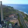 Aeria lvideo of a power plant smoke stack 4k 60p