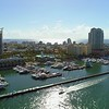 Lateral aerial video Miami Beach Marina 4k 60p