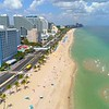 Aerial drone footage Fort Lauderdale Beach Florida