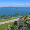 Aerial footage Broad Causeway to Miami Beach