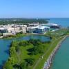 Aerial video Northwestern College Chicago 4k