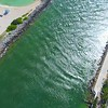 Aerial shot Bal Harbour Inlet 4k