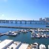 Aerial shot of the Venetian Causeway Miami