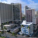 Aerial helicopter tour Waikiki Honolulu Pacific