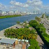 Aerial video Fisher Island Ferry terminal 4k 60p