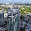 Aerial drone video Midtown 4 Miami