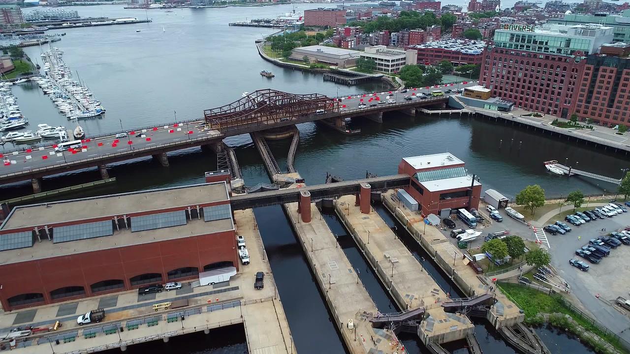 Aerial Boston tour 4k 60p panoramic