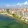 Aerial droen Fisher Island reveal Miami Beach 4k 60p