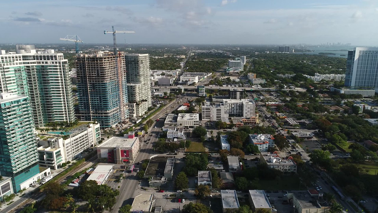 Aerial video Midtown and Design District