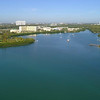 Aerial footage of Miami Biscayne Bay 4k 60p