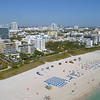 Aerial video Miami Beach Condominiums on the ocean 4k 60p