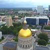 Atlanta Georgia State Capitol Building aerial shot 4k 60p