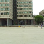 Boston Government center John F Kennedy Federal Building 4k motion video
