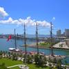 BAP Union training ship aerial video 4k