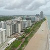 Aerial shot Miami Beach condominiums 4k 60p
